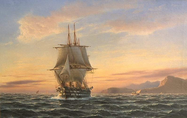 HMS Shannon on Lake Ontario in 1814.