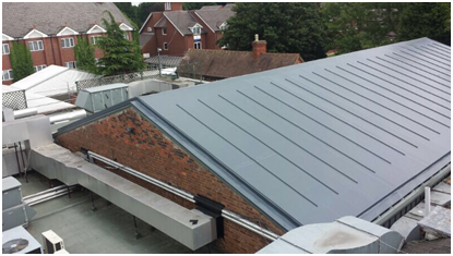 Another Belfry Golf Club Roof In Lead Grey Finish Different Profiles Offered The Decor Profile Imitates A Traditional Standin Zinc Roof Pvc Roofing Lead Roof