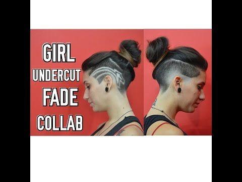 GIRL UNDERCUT FADE COLLAB - YouTube