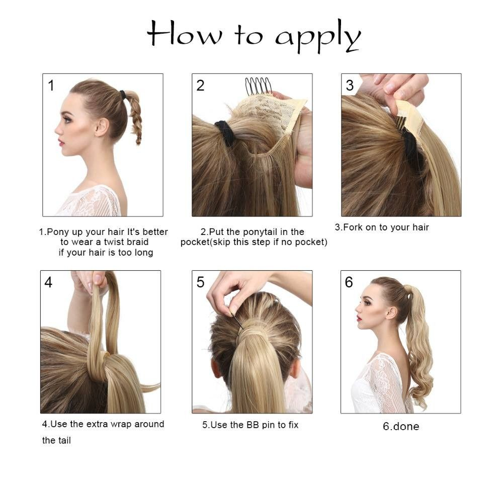 Synthetic Wrap Ponytails Wavy Clip In Ponytail Wavy Hair