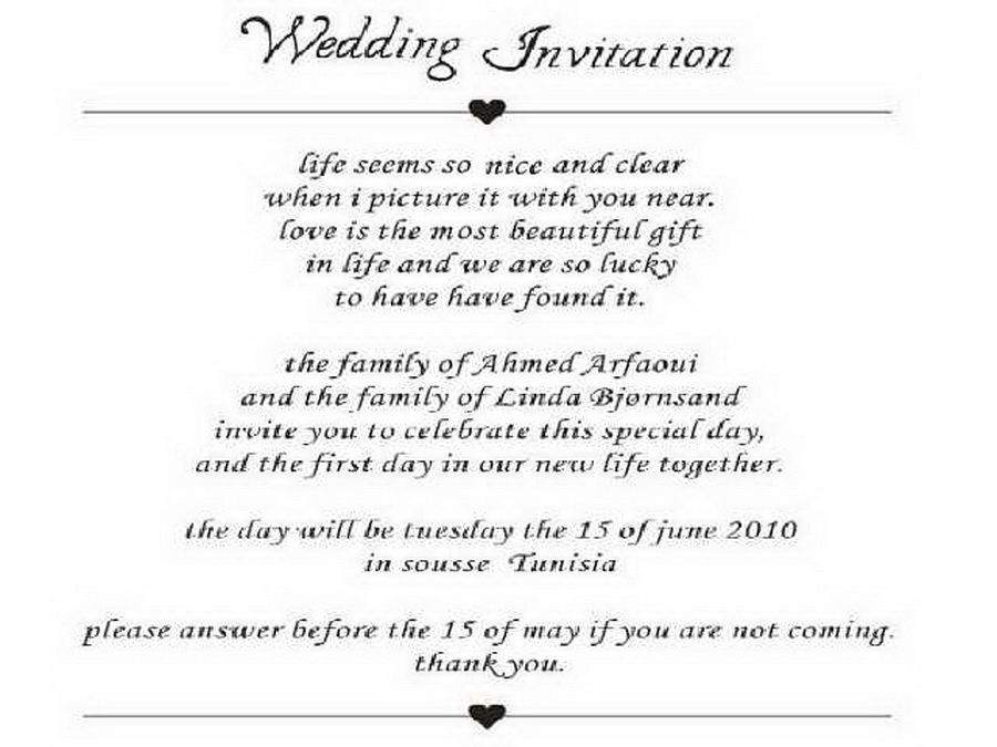 Image Result For Letters Of Invitation Examples  Wedding Concepts