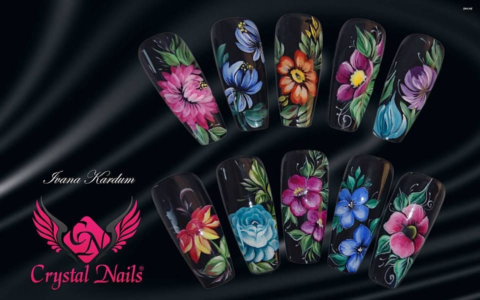 Zhostovo Nail Nailart Crystalnails Fall Nail Design Pinterest