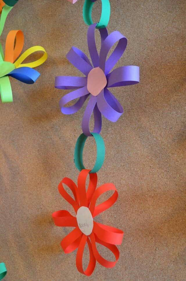 Kids art flower theme weekly home preschool pinterest crafts kids art hanging paper flowers flower paper paper daisy paper flowers kids mightylinksfo