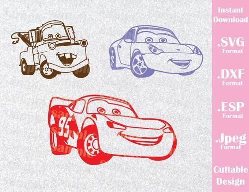 Cars Lightning Mcqueen Sally Carrera And Mate Kids