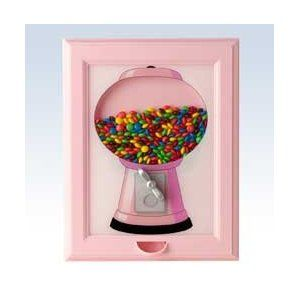 I love this framed candy dispenser. I wish it came in a different color though.