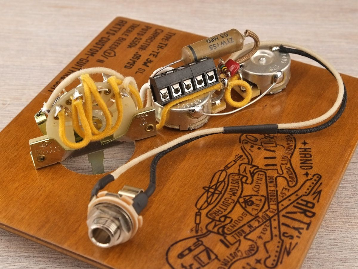 Solderless Guitar Wiring Artys Custom Guitars Thinline Telecaster Standard Kit Pre Wired Prewired Harness Control