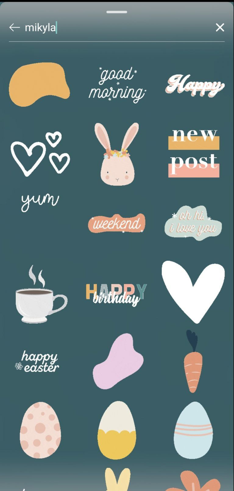 40 aesthetic gifs stickers for instagram stories in