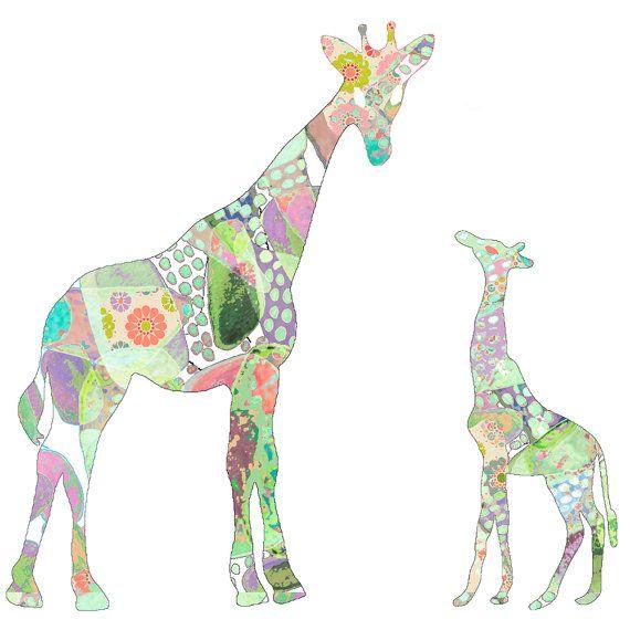 Girl Nursery Decor baby girl nursery Giraffe by OzscapeDesigns, $19.50