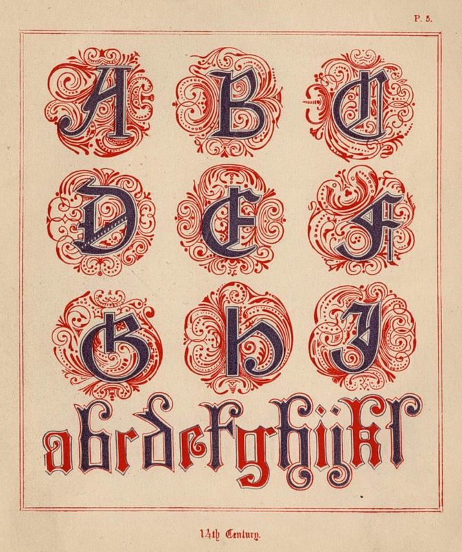 Quot medieval alphabets and initials for illuminators by f g