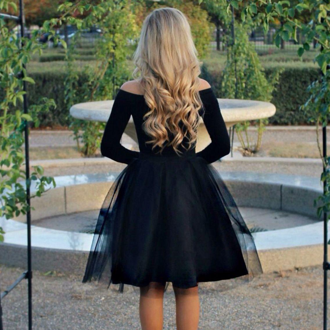 Stephanie Danielle The Ashley Tulle Skirt In Black Fashion Beautiful Dresses Tulle Skirt [ 1136 x 1136 Pixel ]