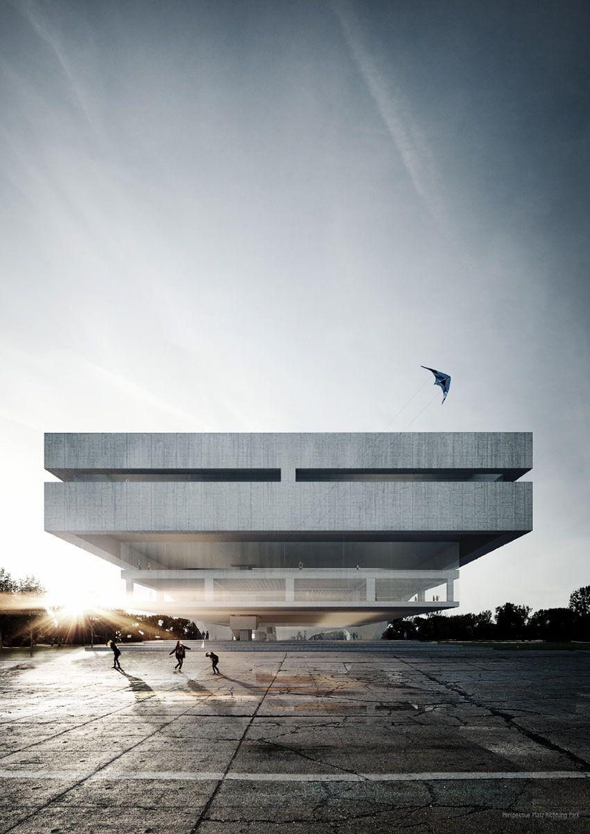Modern Architecture Render zentral und landesbibliothek berlin #architecture #render #modern