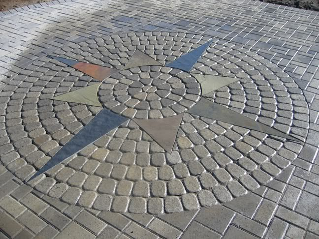 hardscape design ideas a design in the pavers which are of three different types - Hardscape Design Ideas