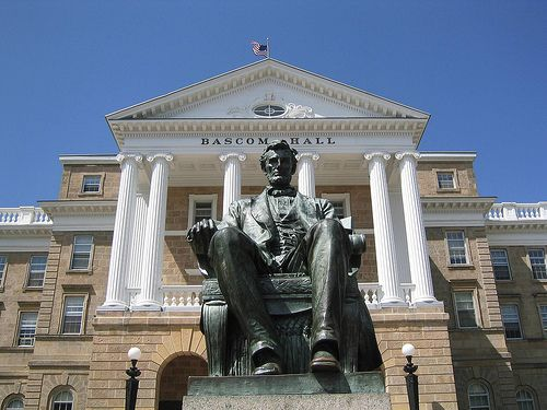 Abe Lincoln Statue In Front Of Bascom Hall Uw Madison