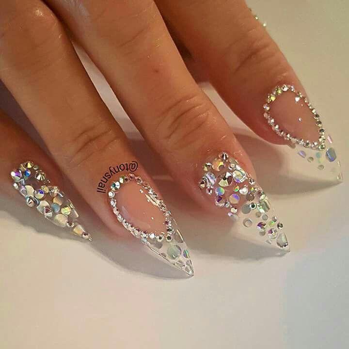 45 Cute Rhinestone Nail Designs And Ideas Nailart Rhinestone Nails Nailideas Design Nails Design With Rhinestones Rhinestone Nails Fresh Nails Designs