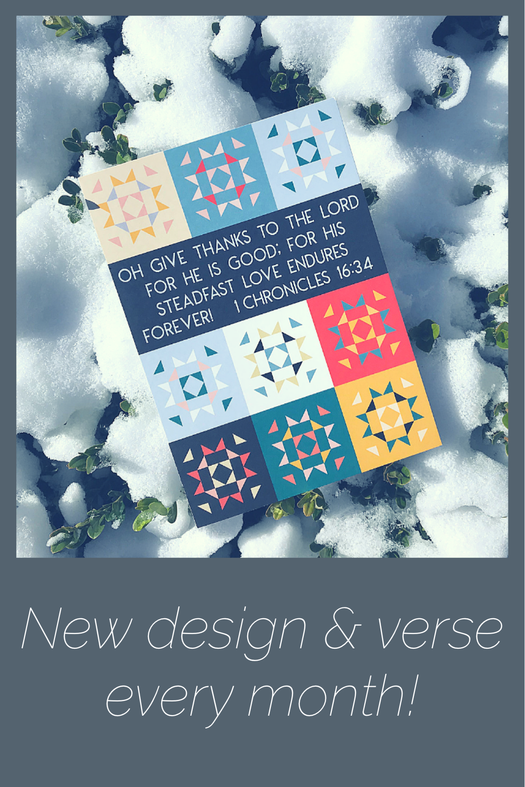 New design & verse each month  Transform your mind with the