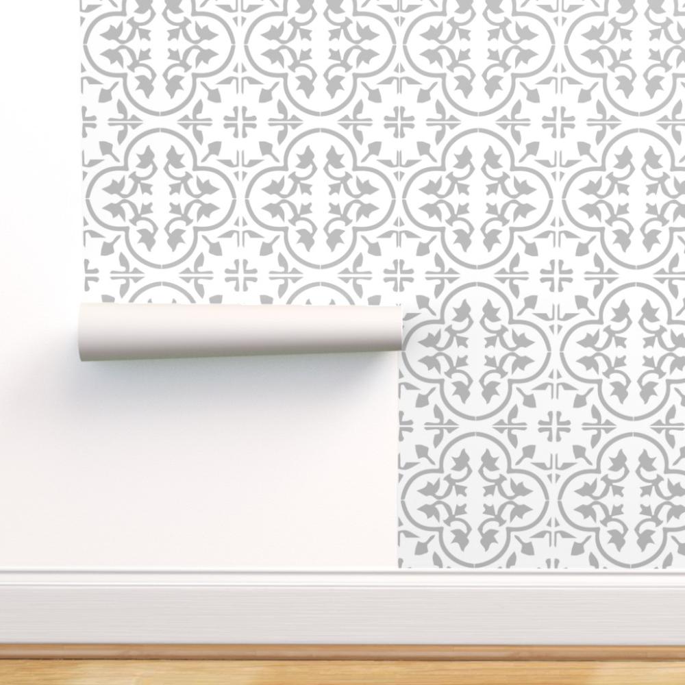 Peel And Stick Removable Wallpaper Encaustic Tile Cement Morroccan Mexican Walmart Com Tile Wallpaper Moroccan Wallpaper Cement Tile