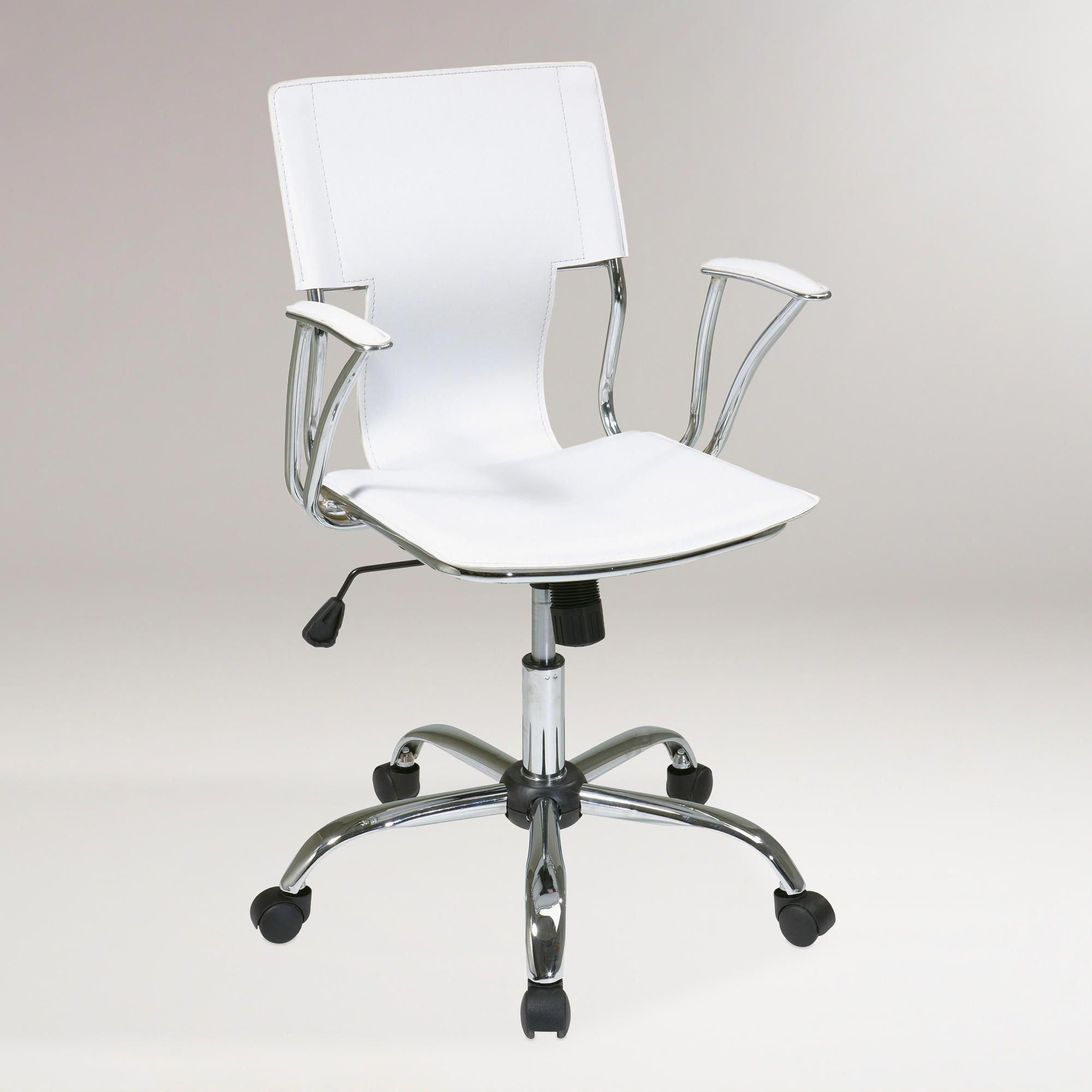 World Market Desk Chair Fisher Price Space Saver High Replacement Straps White Ethan Office Luxuryofficechairs Wing