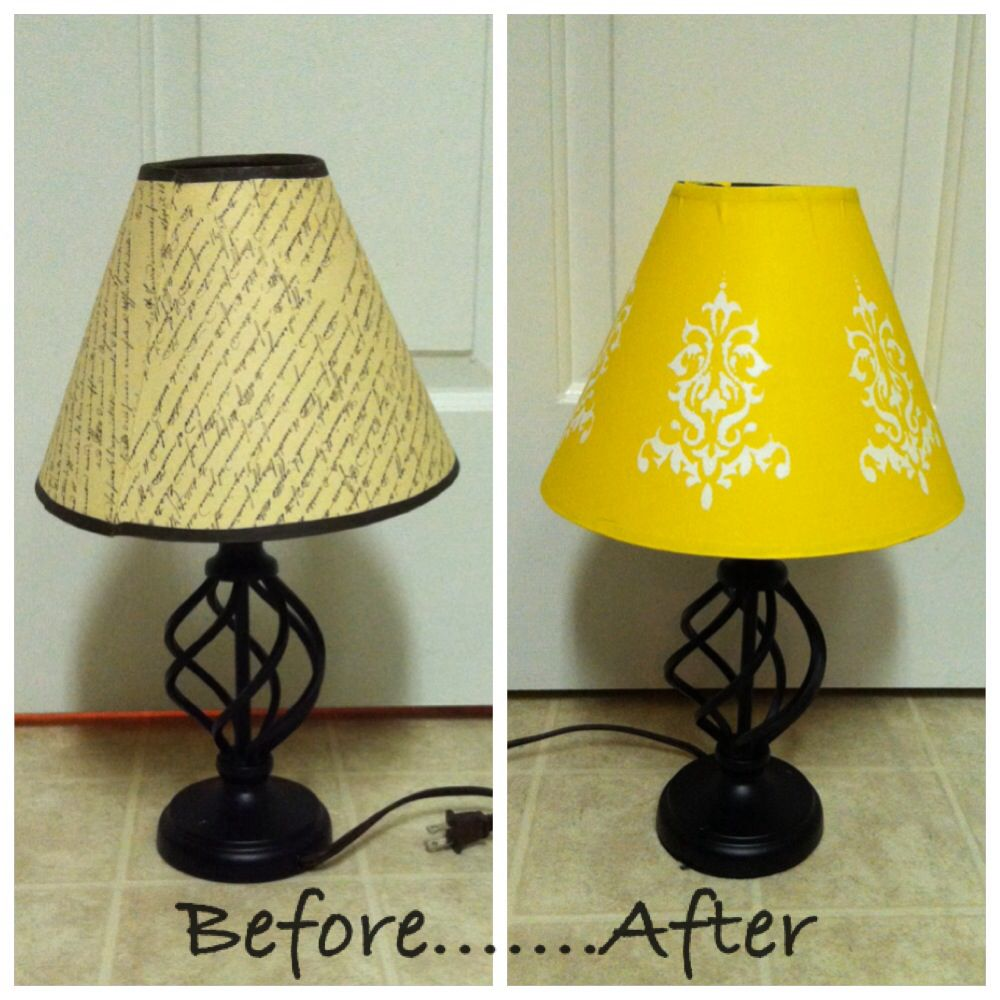Lampshades Are Expensive Acrylic Paint Not Yellow