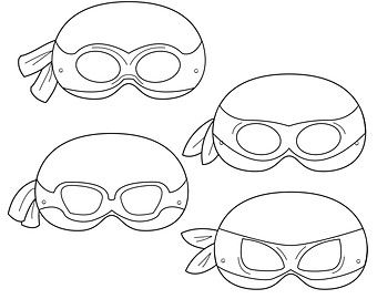 printable teenage mutant ninja turtle mask template google search