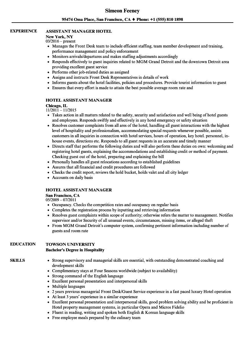 Assistant Superintendent Resume Examples In 2021 Manager Resume Resume Examples Good Resume Examples