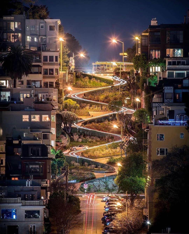 Lombard Street San Francisco #city #cities #buildings