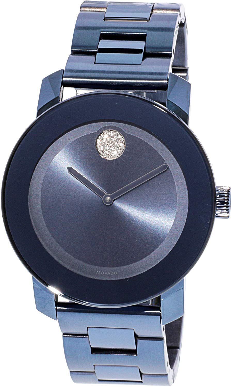 Movado Bold Light Blue Dial Ladies Watch 3600494 Womens