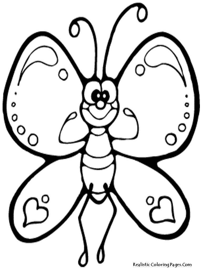 Colouring in pages for girls butterflies - Butterfly Coloring Pages Download Free Printable Realistic Butterfly Coloring Pages For Your