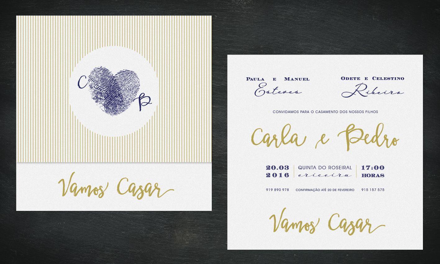Proposta de convite de casamento.  Wedding invitation proposal.  #beapaper #convitecasamento #weddinginvitation #fingerprints #impressõesdigitais #riscas #stripes