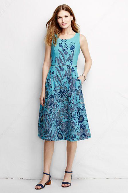 f33f6abf543 Women s Scoop Back A-line Dress - Pattern from Lands  End