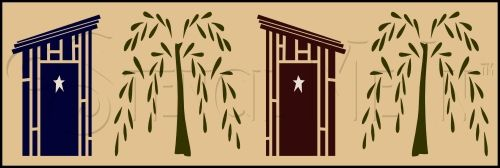 Outhouse & Willow Wall Border Design Measures 7