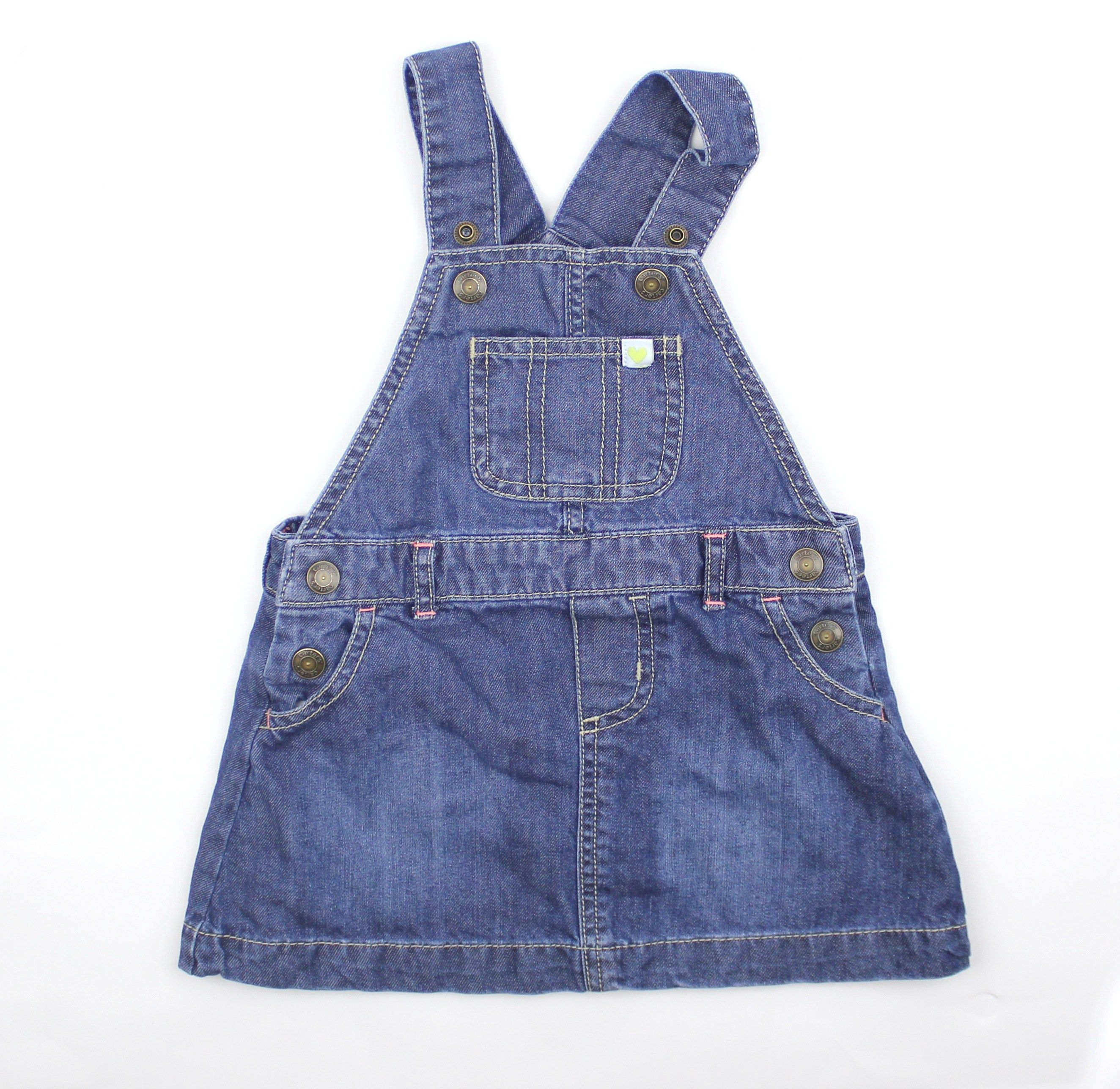 48b5691eaefd Toddler Girl Denim Overall Dress Jumper by Carters in Size 18 Months ...