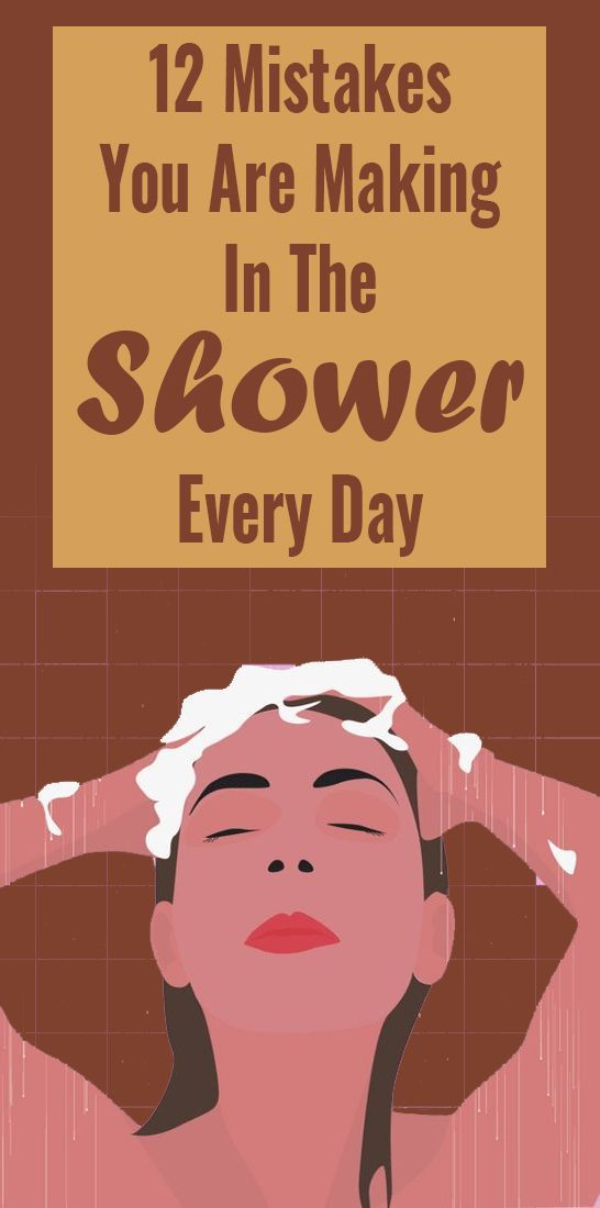 12 Mistakes You Make In The Shower That Can Affect Your Health