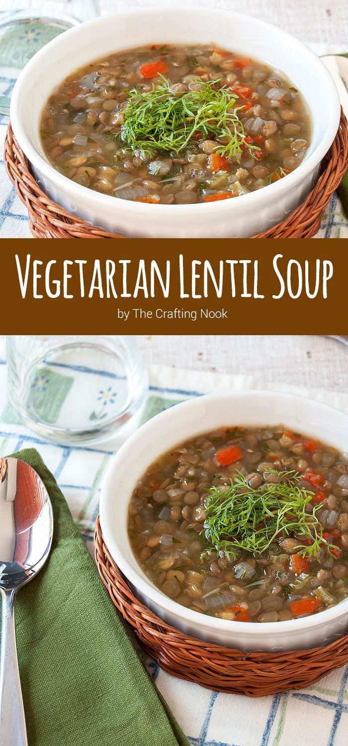 Vegetarian Lentil Soup. A delicious and comforting Soup recipe mixing the flavors of delicious seasoning and lentils for a perfect night family dinner!