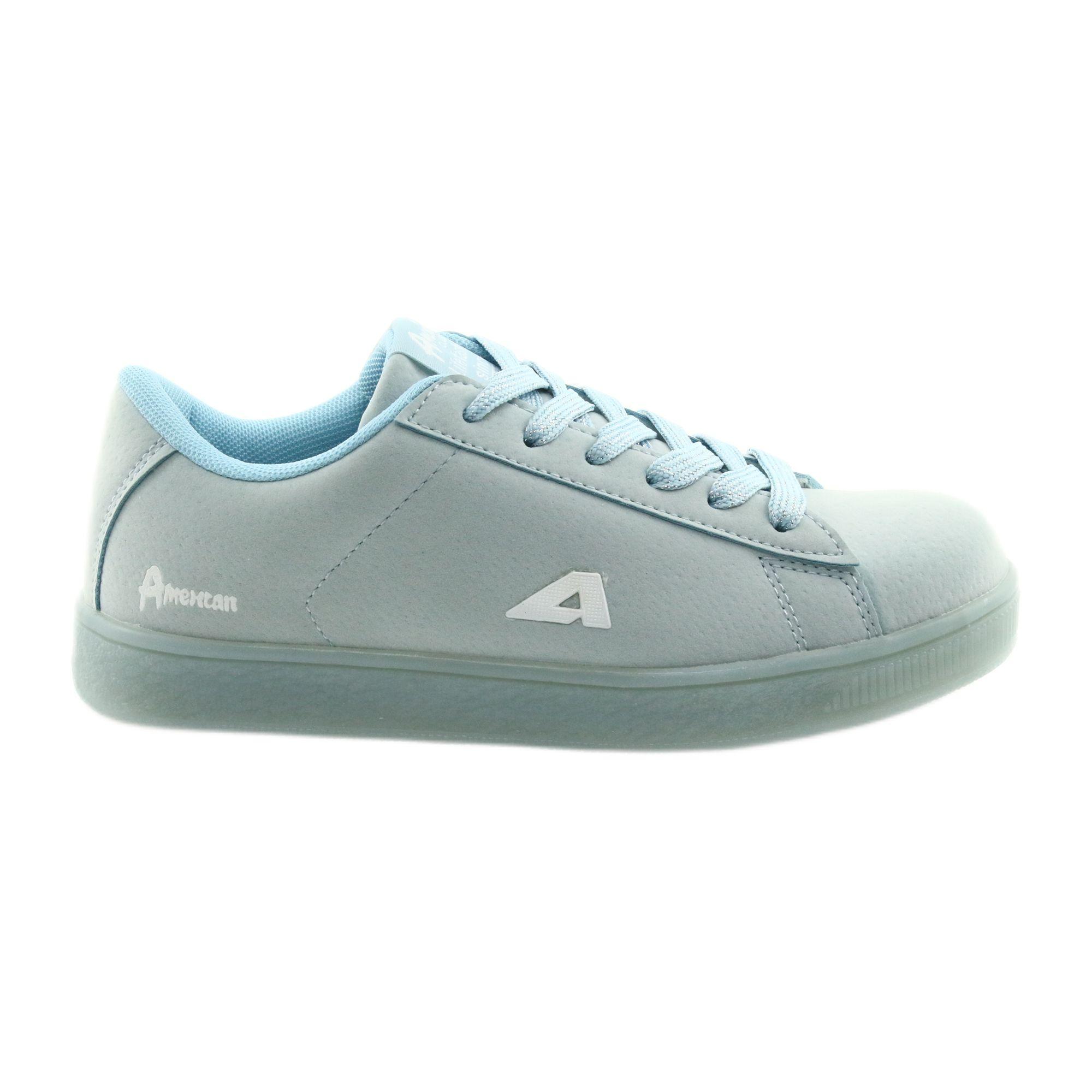Buty Sportowe American Club Bs07 Wkladka Skorzana Niebieskie Sports Shoes Shoes Kid Shoes