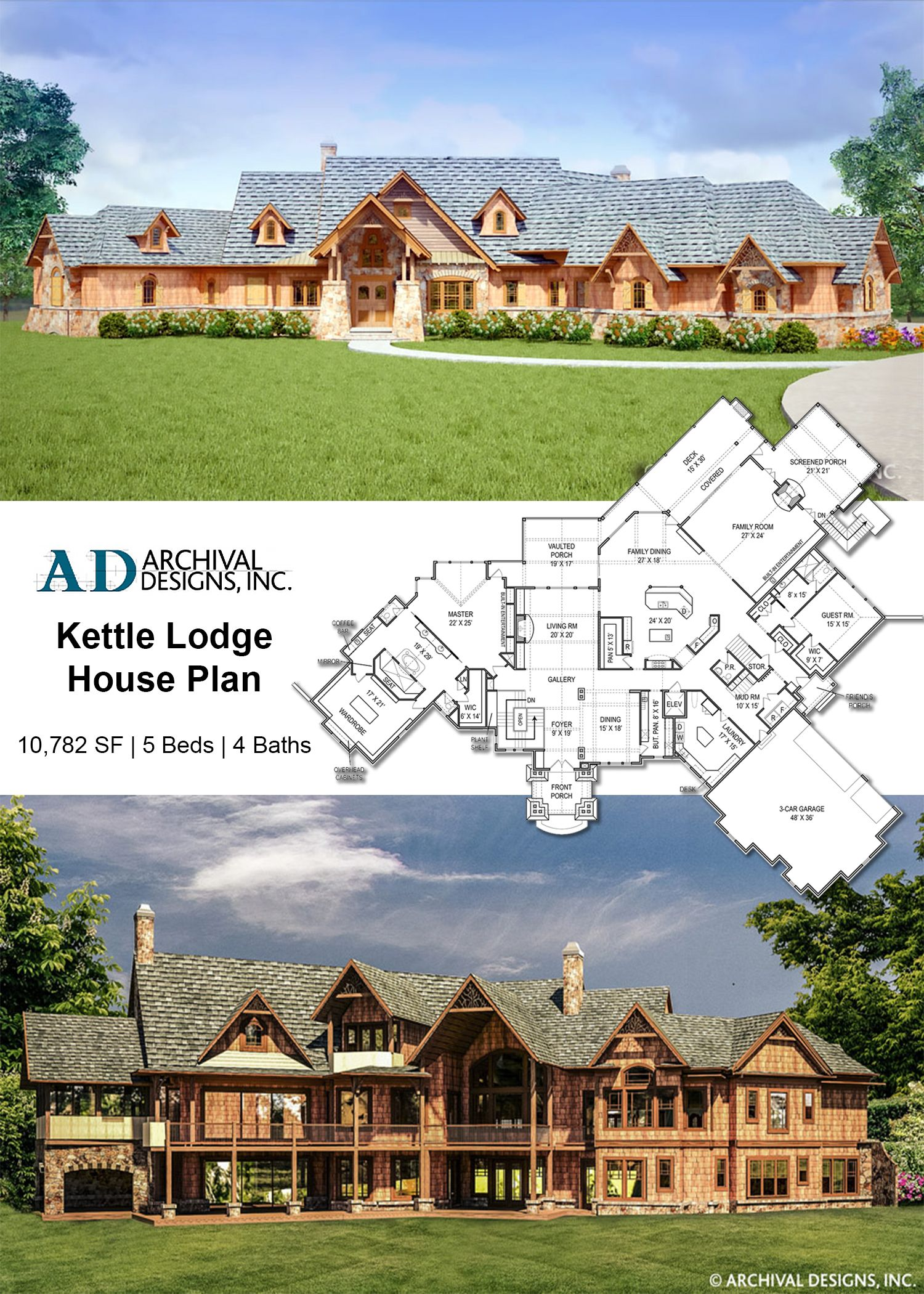 Kettle Lodge Mansion House Plan House Plans Luxury House Plans Mansion Floor Plan
