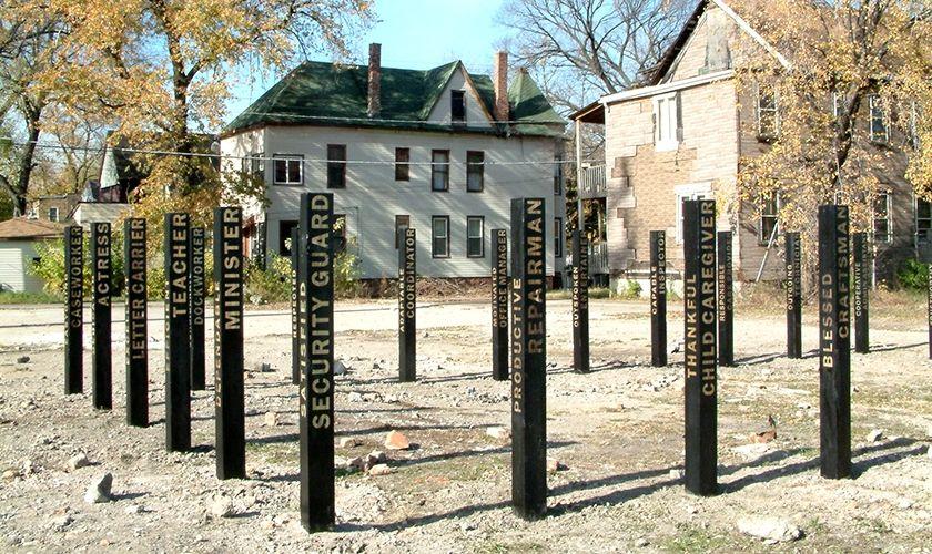 Wooden Posts, WorkShift/Chicago, Community Architexts