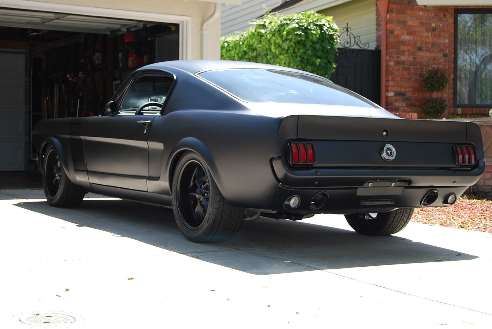 1965 murdered out ford mustang fastback imgur