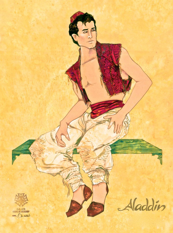 Aladdin costume rendering by Gregg Barnes Disneys Aladdin on