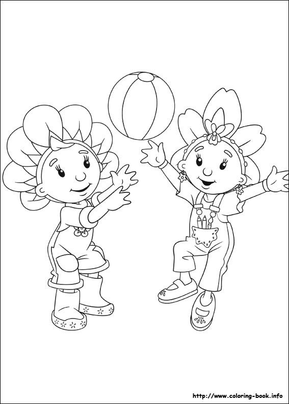 Fifi and the Flowertots coloring picture | Coloring and Activities ...