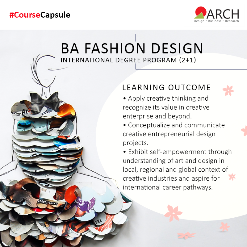 Arch Offers A 2 1 Years Bachelor Of Arts Ba International Degree In Fashion Design The Learning Outcomes Of Creative Thinking Business Design College Design