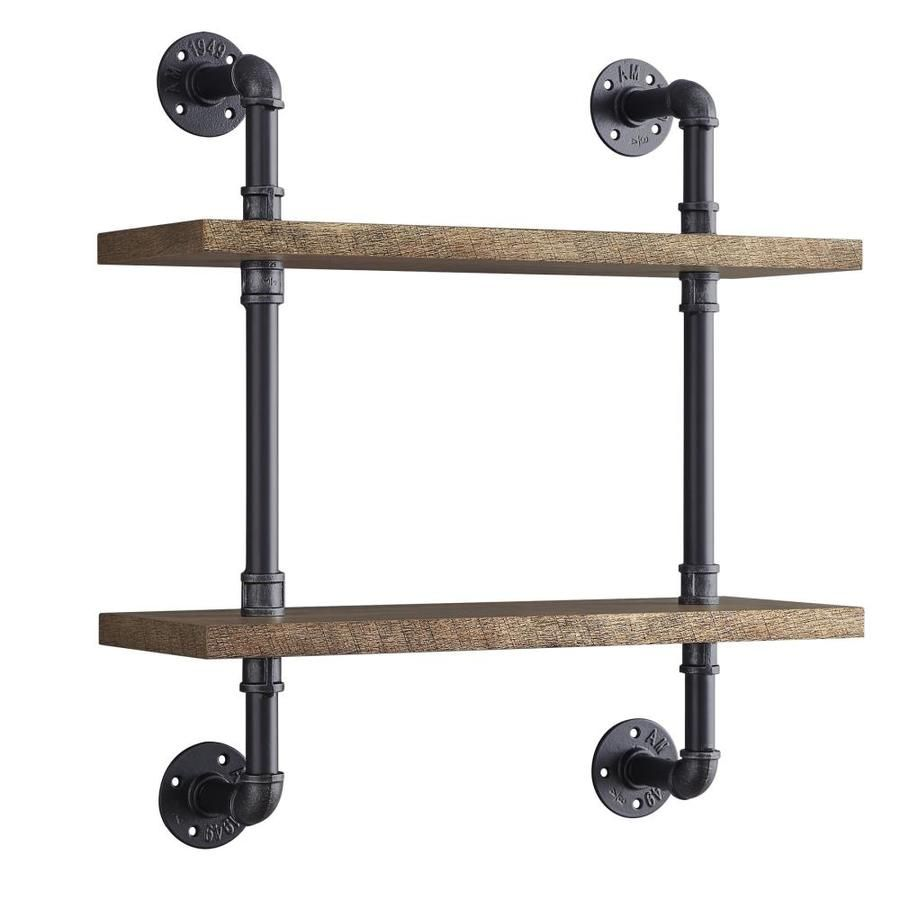 Whalen 23 75 In L X 26 25 In H X 8 In D Wall Mounted Shelving