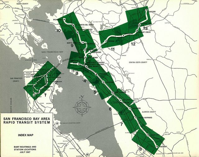 San Francisco Bay Area Rapid Transit System: Index Map (July, 1967) | Flickr - Photo Sharing!