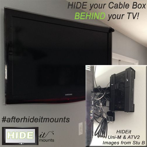 Hide Your Cable Box Behind Your Tv We Also Have Vertical Wall Mounts For Game Consoles And Digital Media Players Wall Mounted Tv Cable Box Tv Over Fireplace