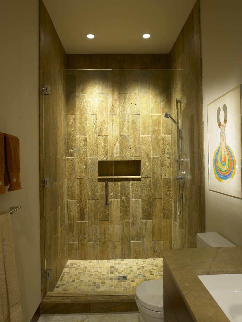 Bathroom Shower Lighting Ideas Part - 15: Wonderful Natural Shower Recessed Lighting Design Ideas Displaying Cleanly  Glass Door With Amazing Wall Natural Shades