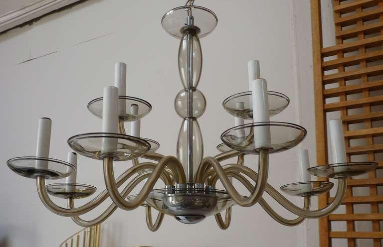 Italian 12 arm murano glass chandelier c1960s chandeliers arms 1stdibs 12 arm glass murano chandelier c1960s aloadofball Images