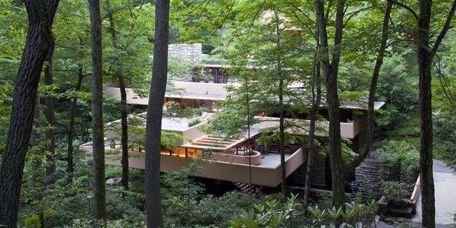 fallingwater une maison sur la cascade frank lloyd. Black Bedroom Furniture Sets. Home Design Ideas