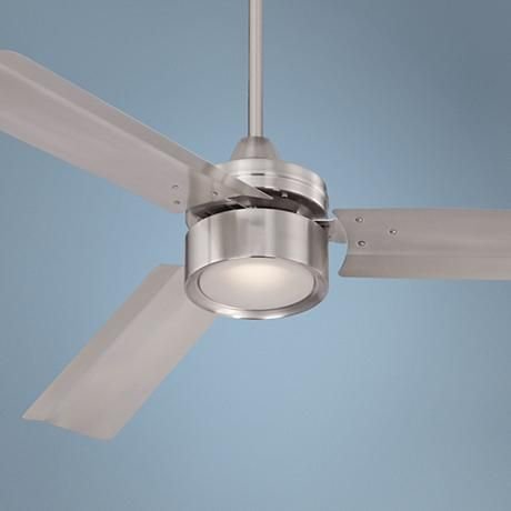 52 casa arcus brushed nickel led ceiling fan brushed nickel three brushed nickel finish metal blades and a frosted glass led light give this brushed nickel ceiling fan smooth modern style mozeypictures Images