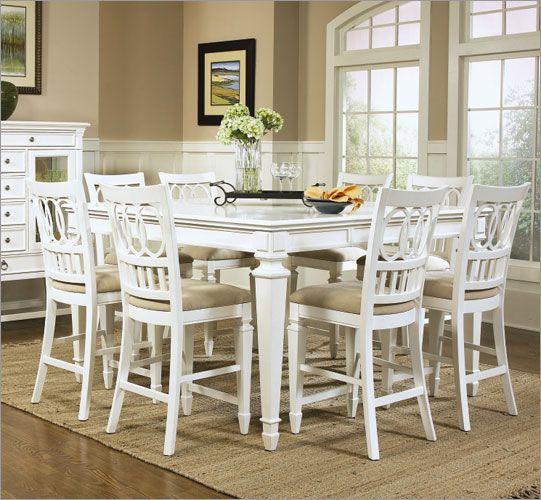 White Counter Height Table Set Amp Amazon Com Poundex