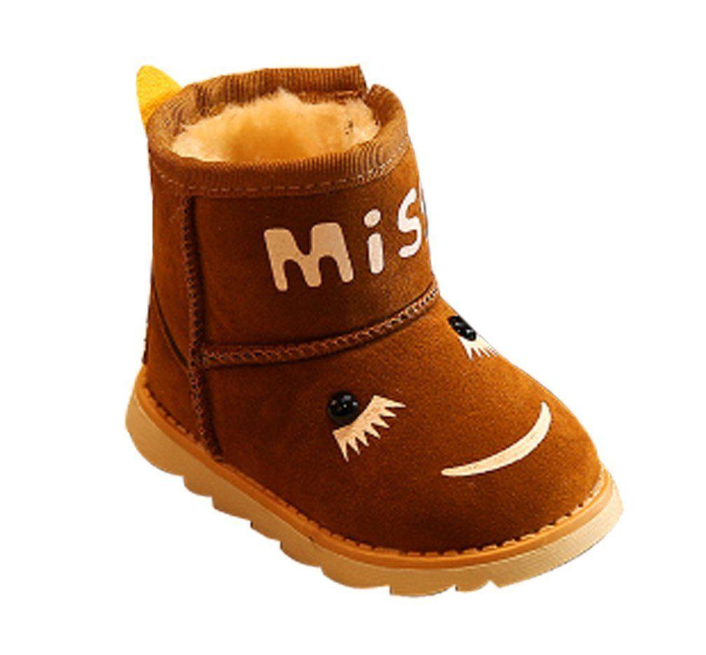 VECJUNIA Boys Girls Camouflage Nonslip High Top Warm Winter Snow Boots Toddler//Little Kid//Big Kid