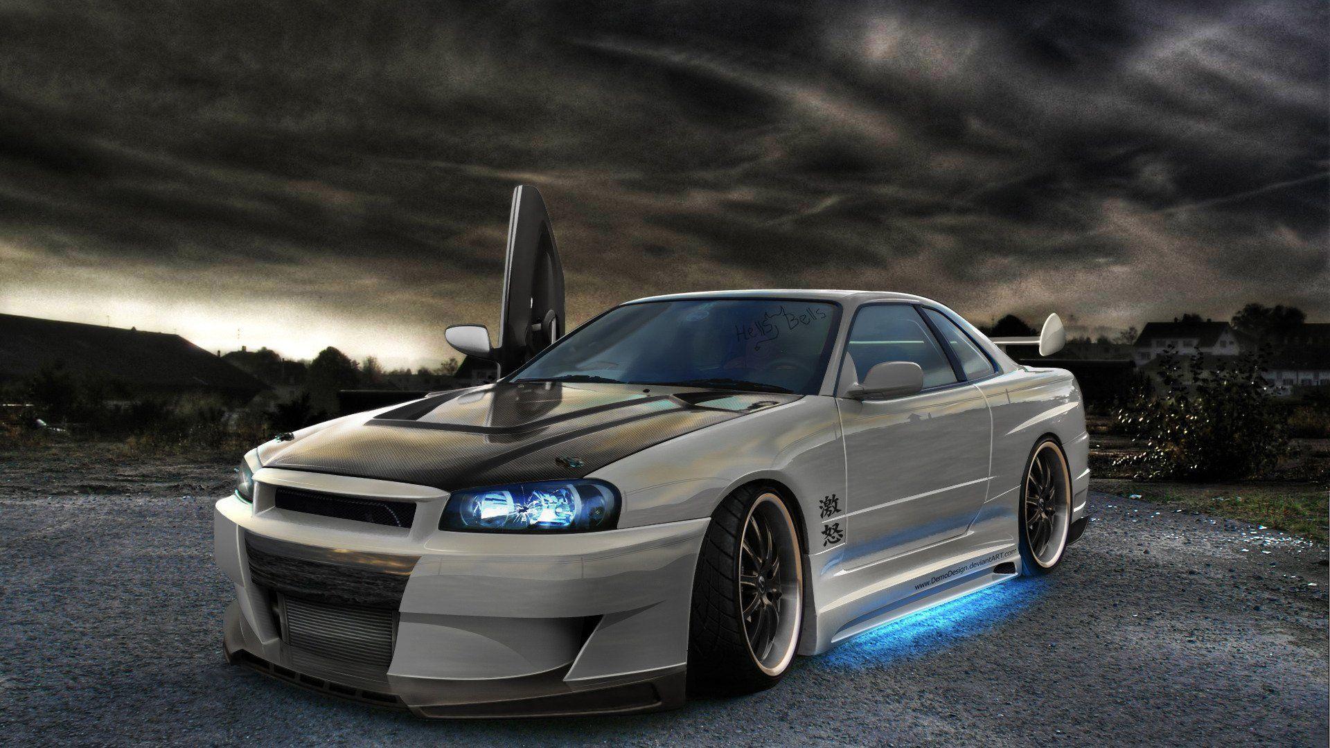 Japanese Used Modified Sports Cars Nissan Skyline R34 Engine 480hp Export  Sales Are Carried Out From Japan. Description From Autospost.com. I Searcu2026